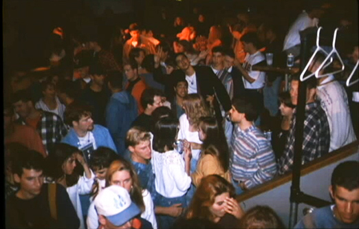 Bus Stop Crowd as seen in the famous Radford Bus Stop Nightclub slide show.